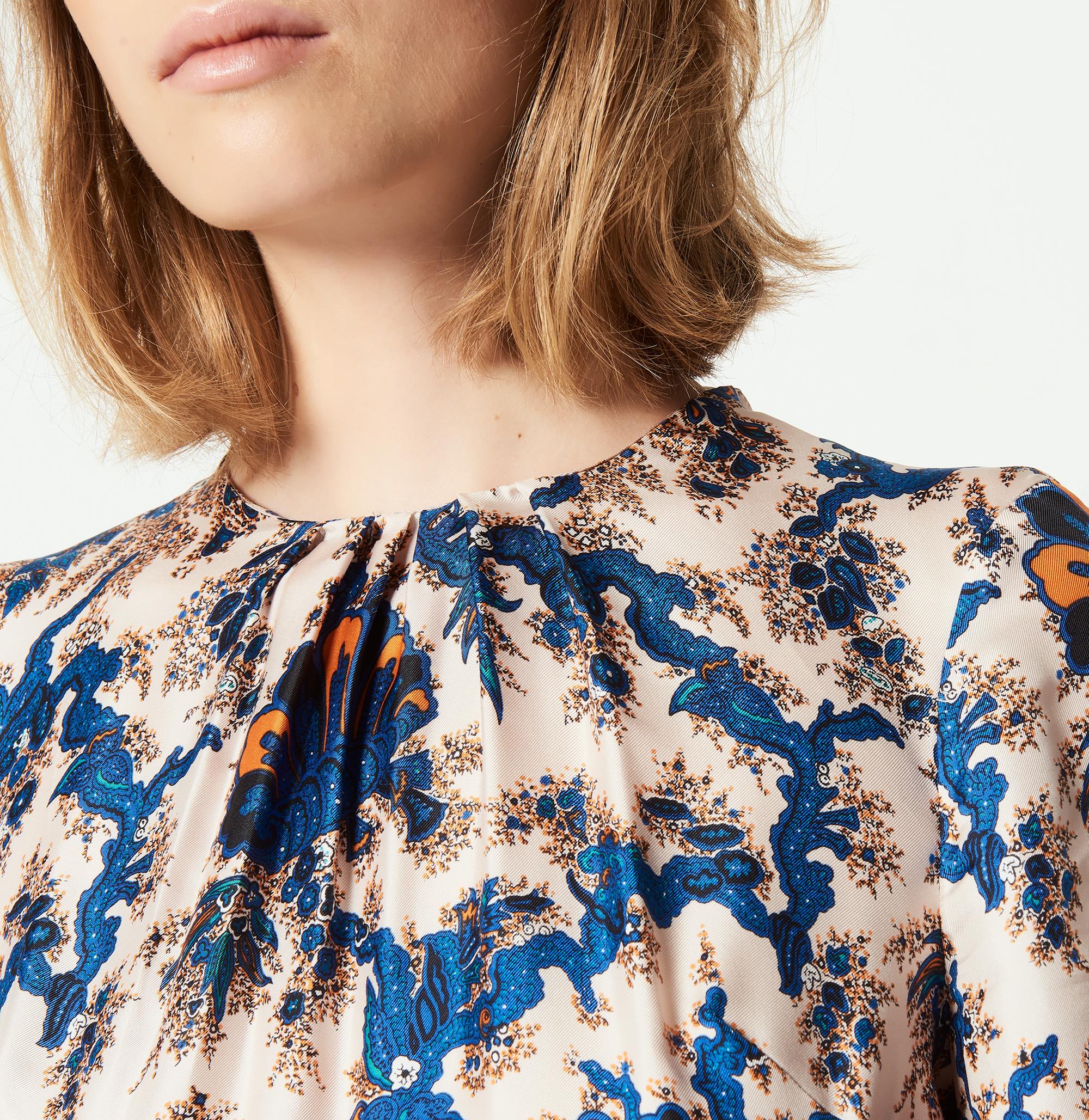 658cc4e99682 ... All-over print long silk dress   Dresses color Multi-Color ...