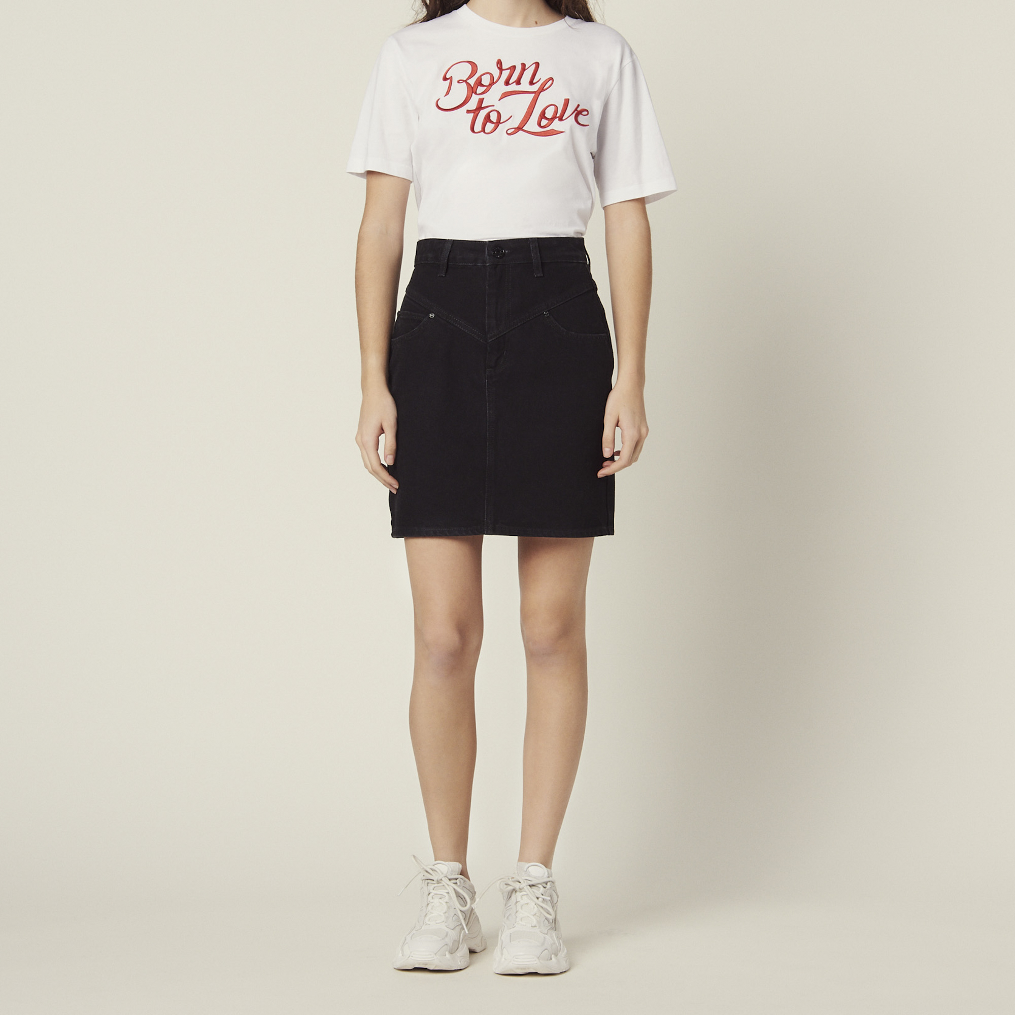4247a0d303 Short denim skirt   Skirts   Shorts color Black ...