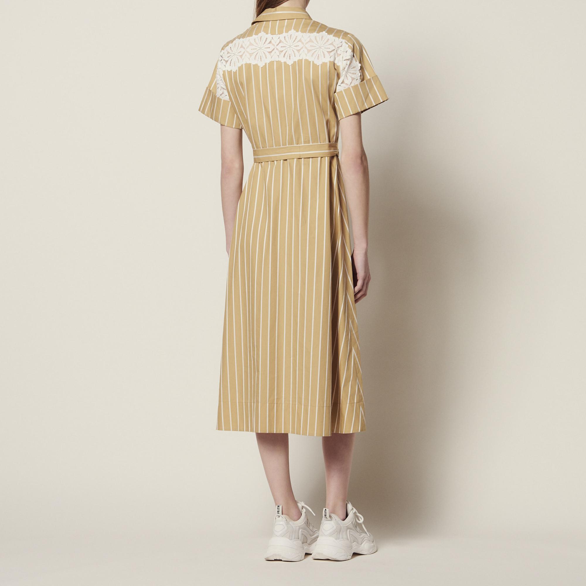 76780c079478 ... Striped short-sleeved shirt dress   Dresses color Beige ...