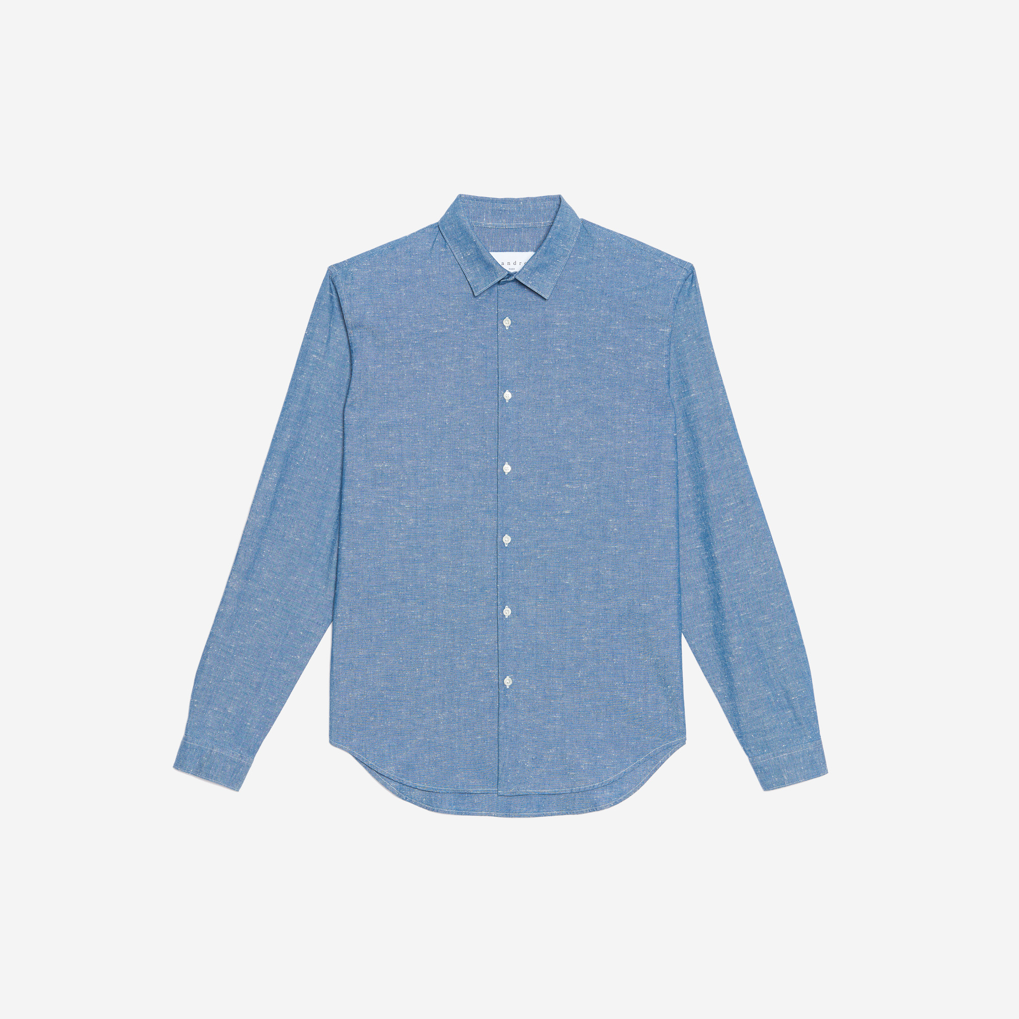 Flecked chambray shirt notre s lection last chance for Chambray 7 s