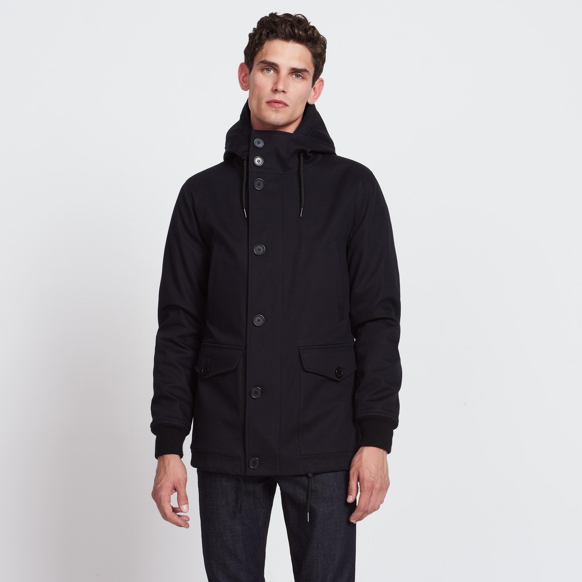 deckjacket coat trench coats coats sandro. Black Bedroom Furniture Sets. Home Design Ideas