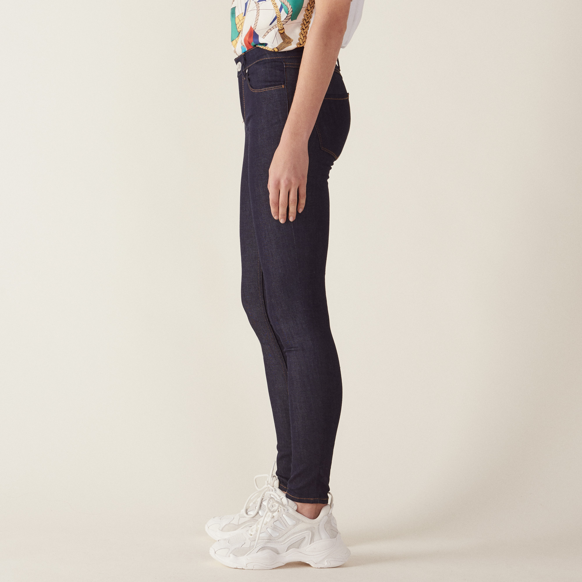 Raw Denim Skinny Jeans