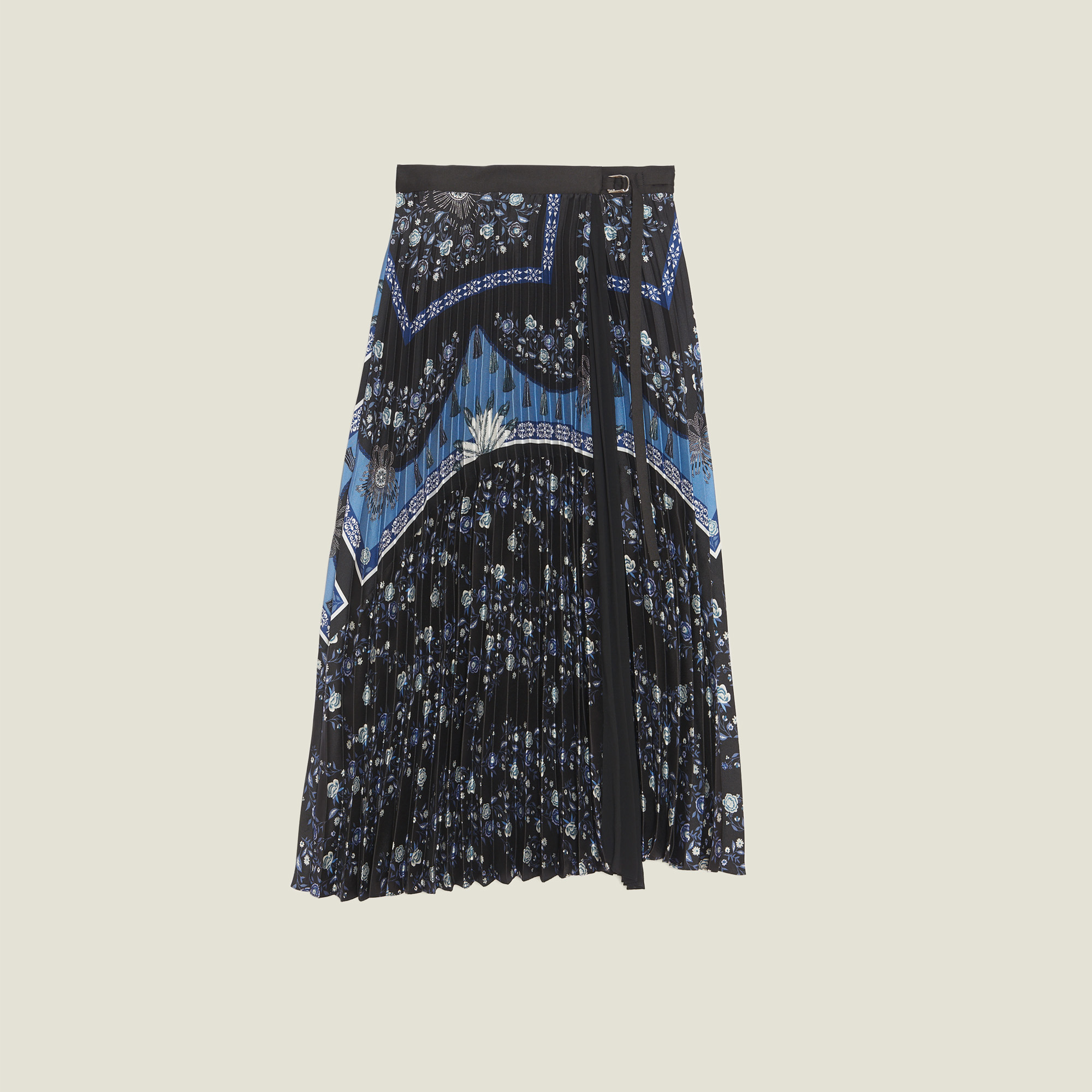 fc14ce0307 ... Wraparound Skirt With Sunray Pleating : Skirts & Shorts color Blue