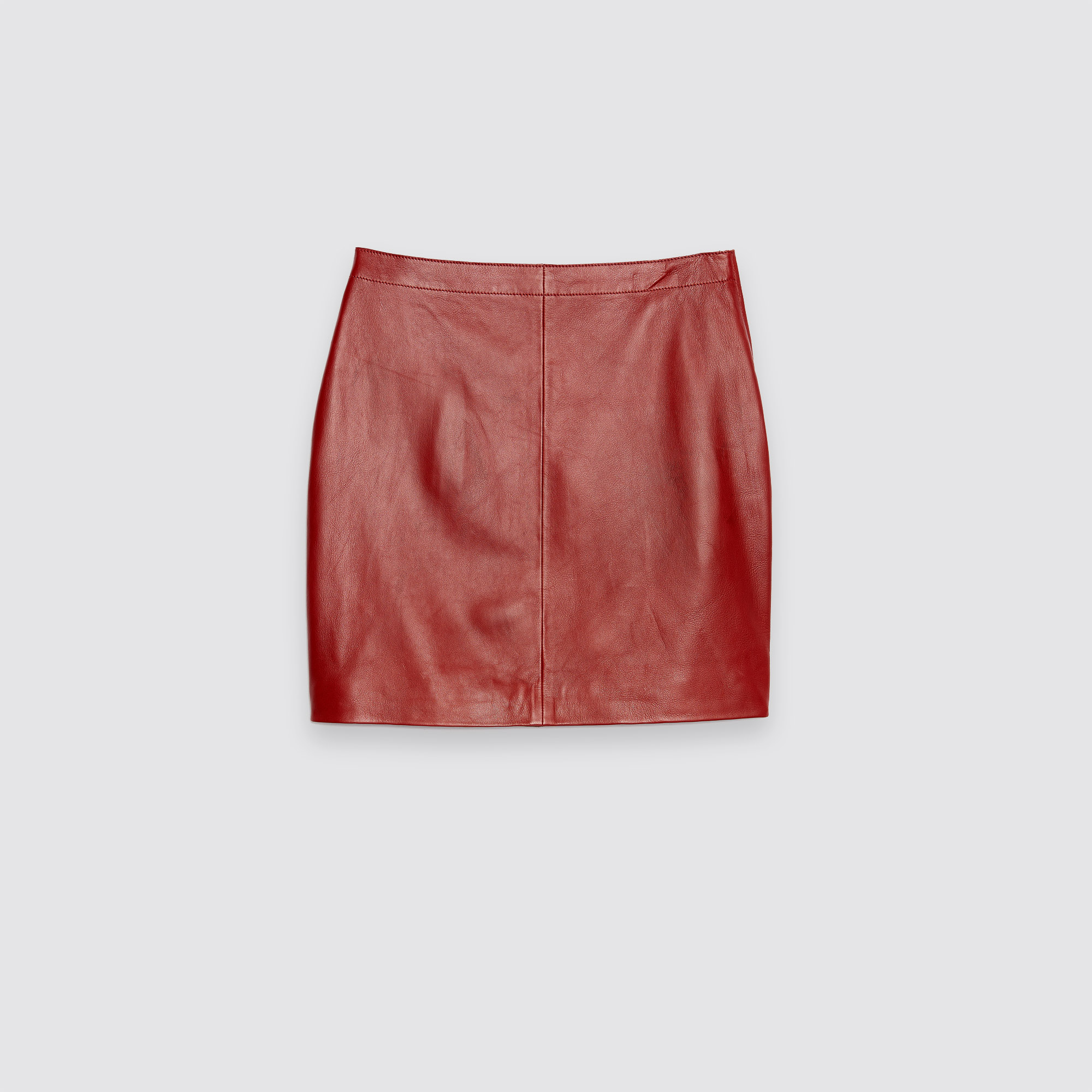 leather skirt with visible stitching skirts shorts