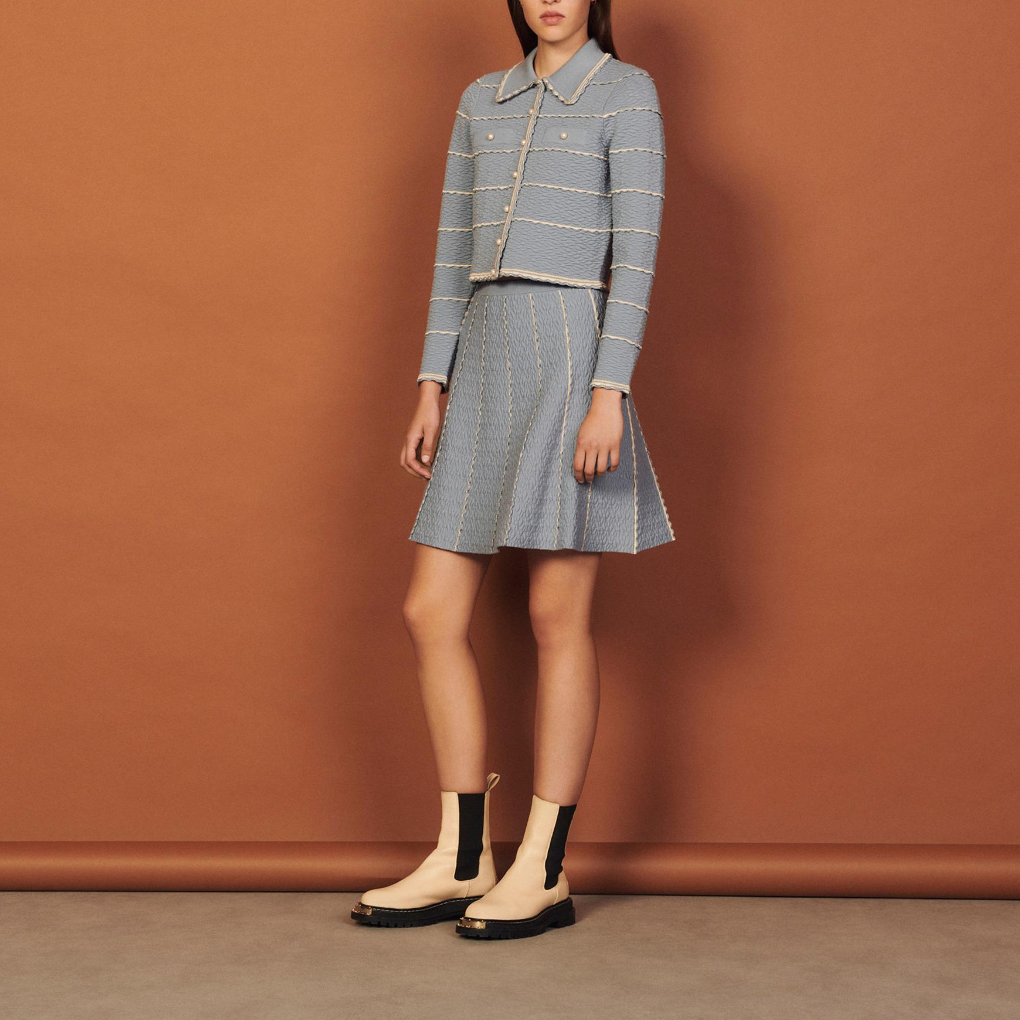 Short A-line knit skirt - Sandro - Modalova