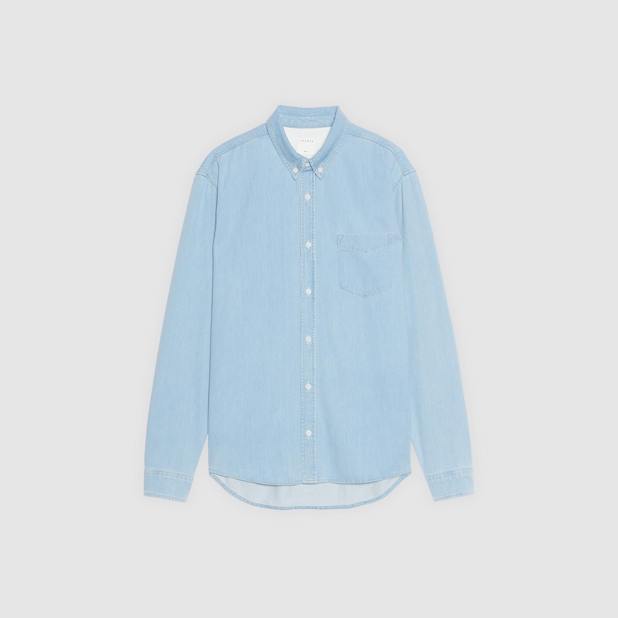 75669c90f9 ... Denim shirt   Icons color Sky Blue