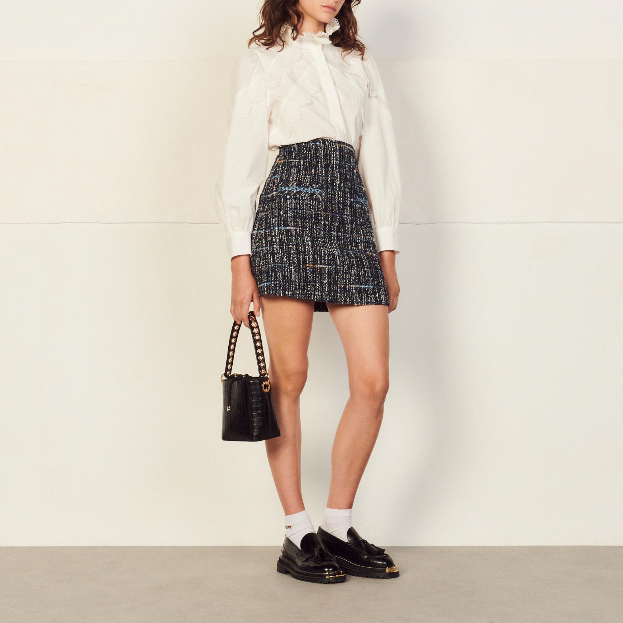 Short tweed skirt - Sandro - Modalova