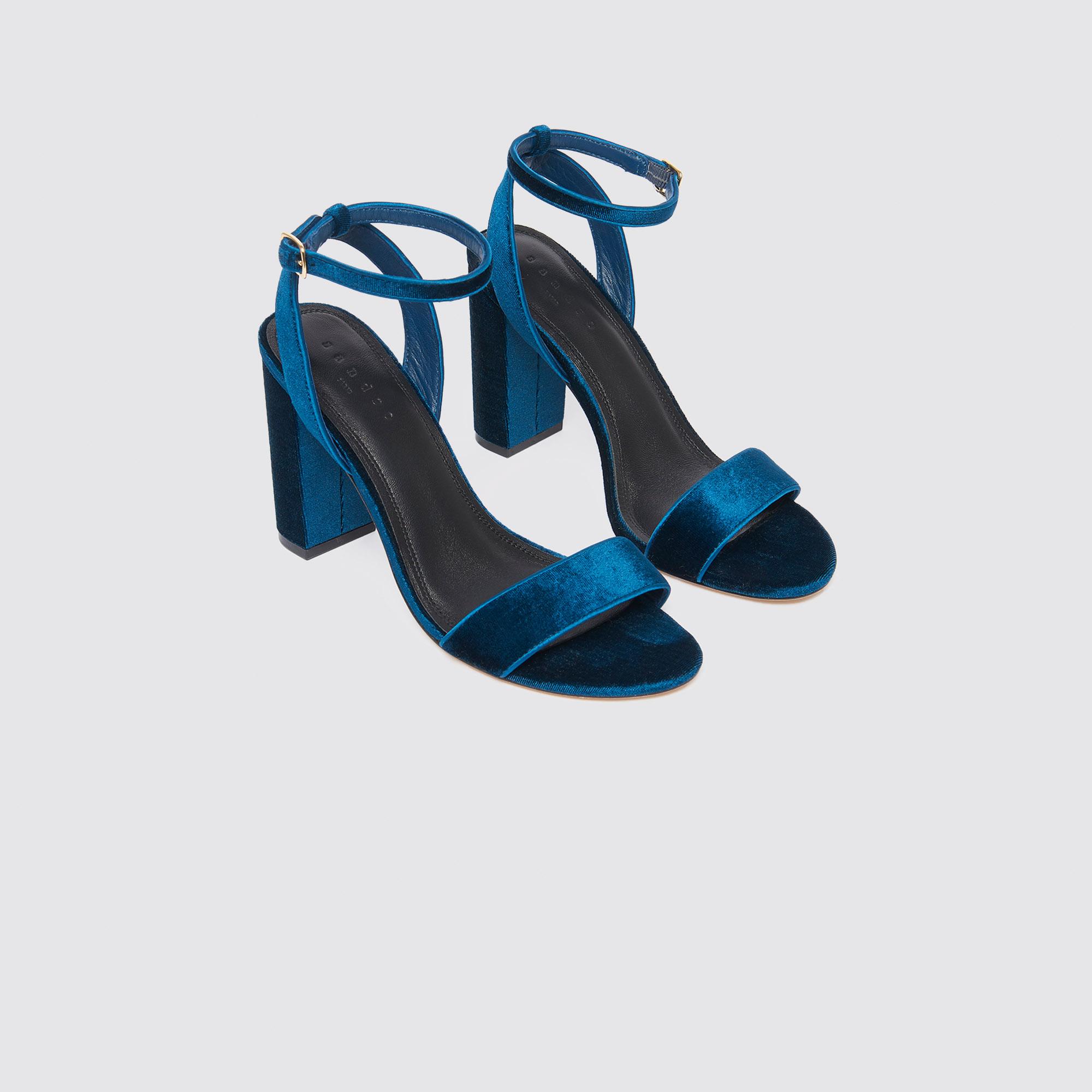 6e3d07dc7ea886 ... Velvet heeled sandals   FBlackFriday-DE-FChaussures color Turquoise ...