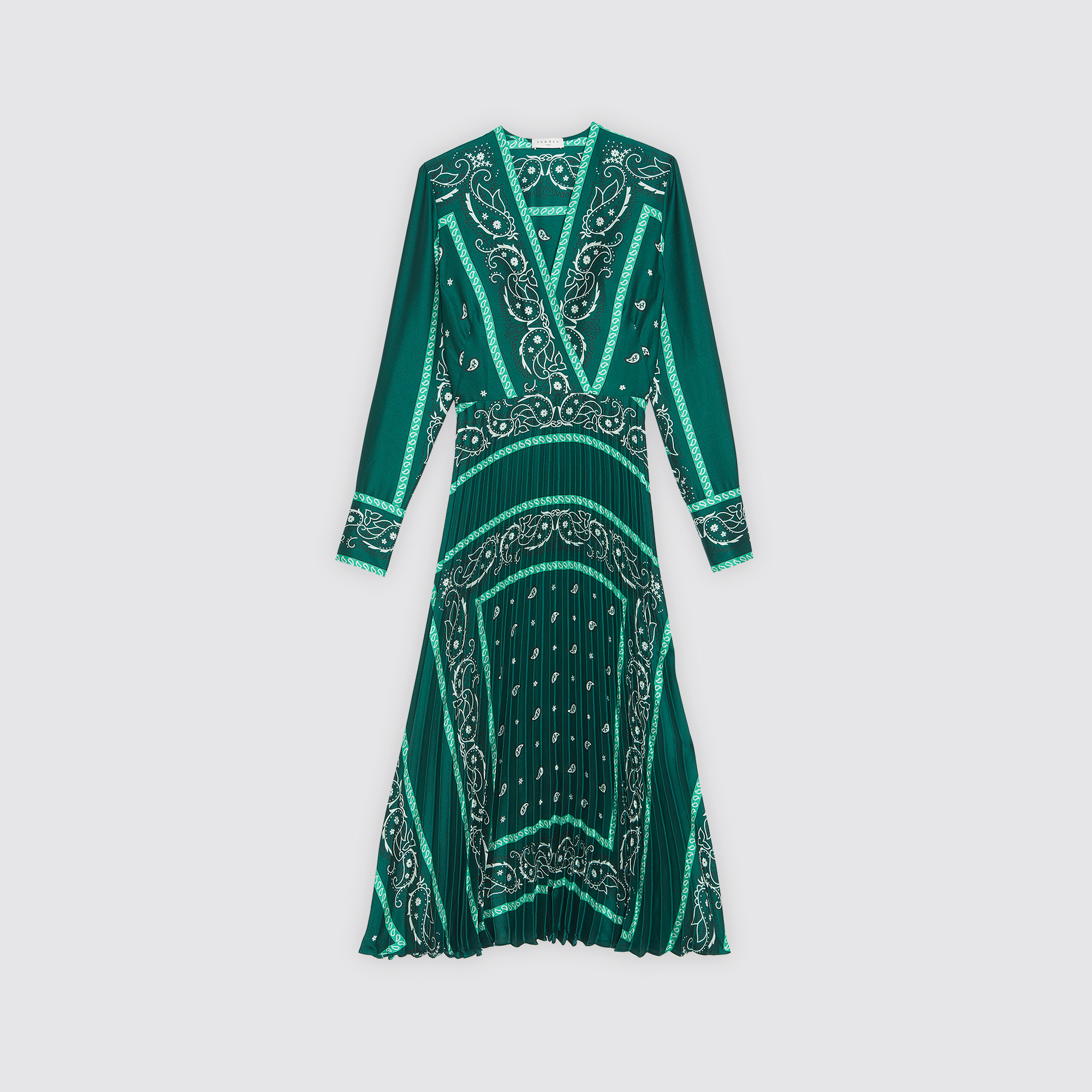 ... Long dress with scarf prints   Dresses color Green a464285ea