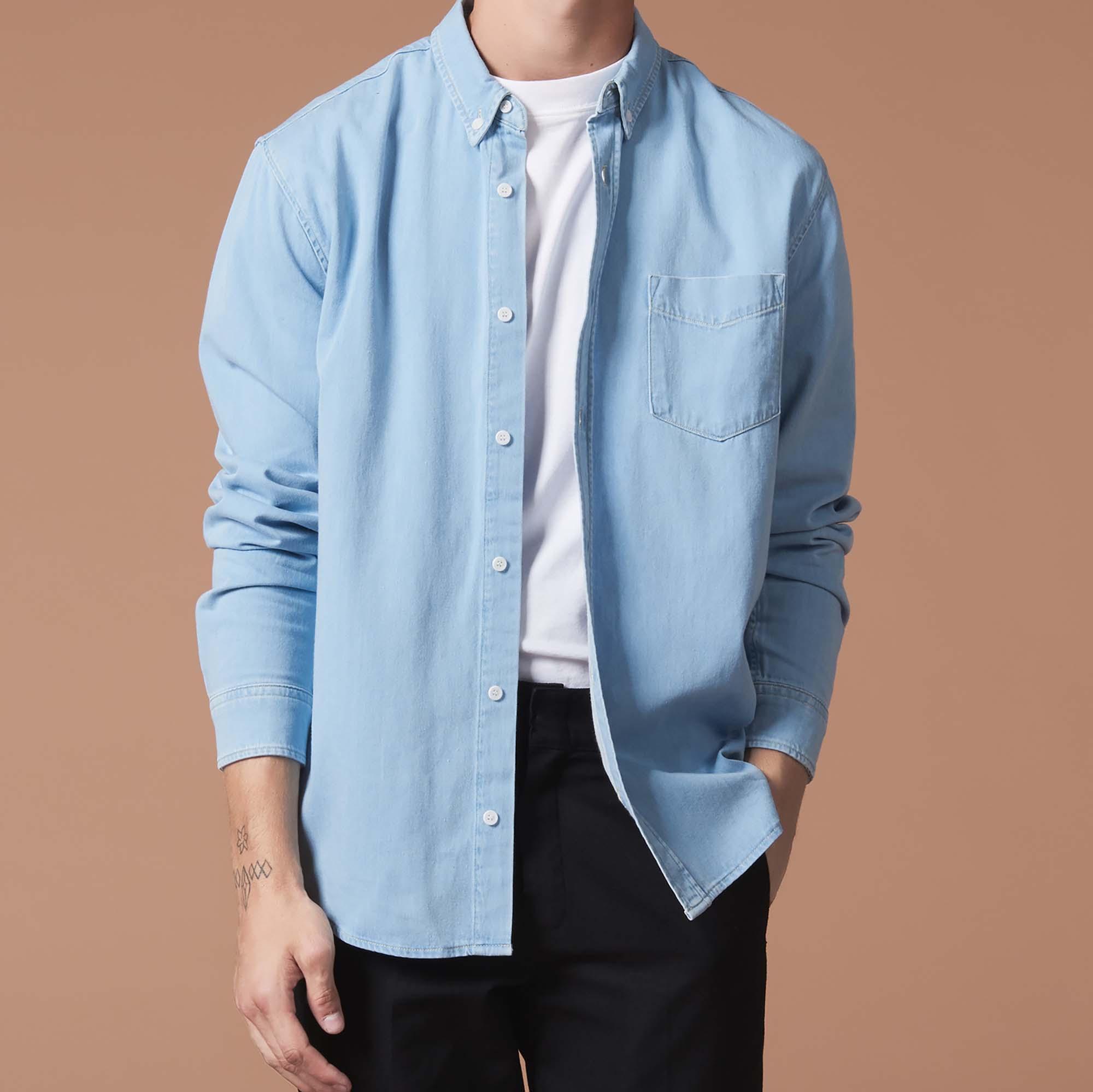 93e659475a Denim shirt   Icons color Sky Blue ...
