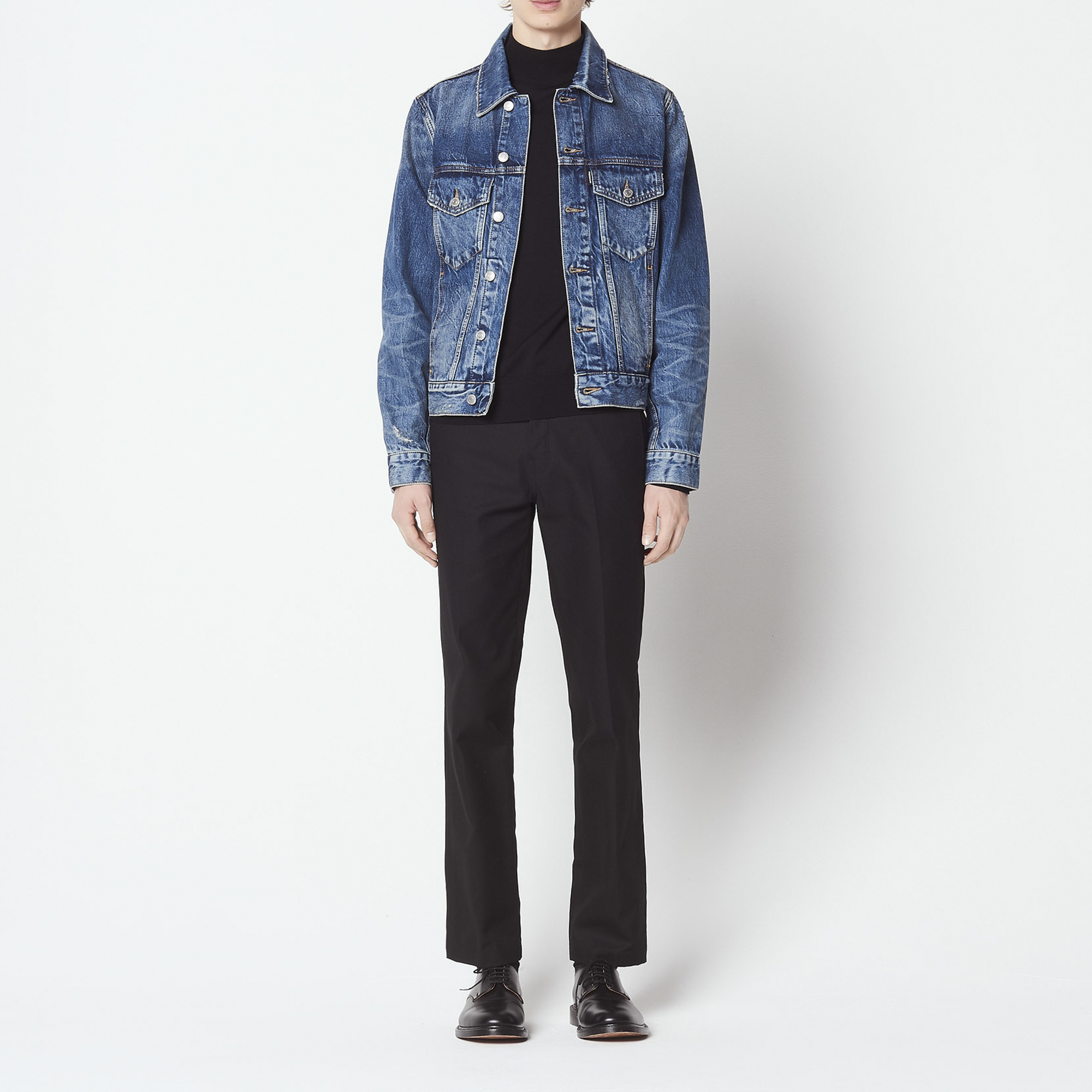 711be3f94d9f0 Vintage-style denim jacket   Blazers   Jackets color Blue Vintage - Denim  ...