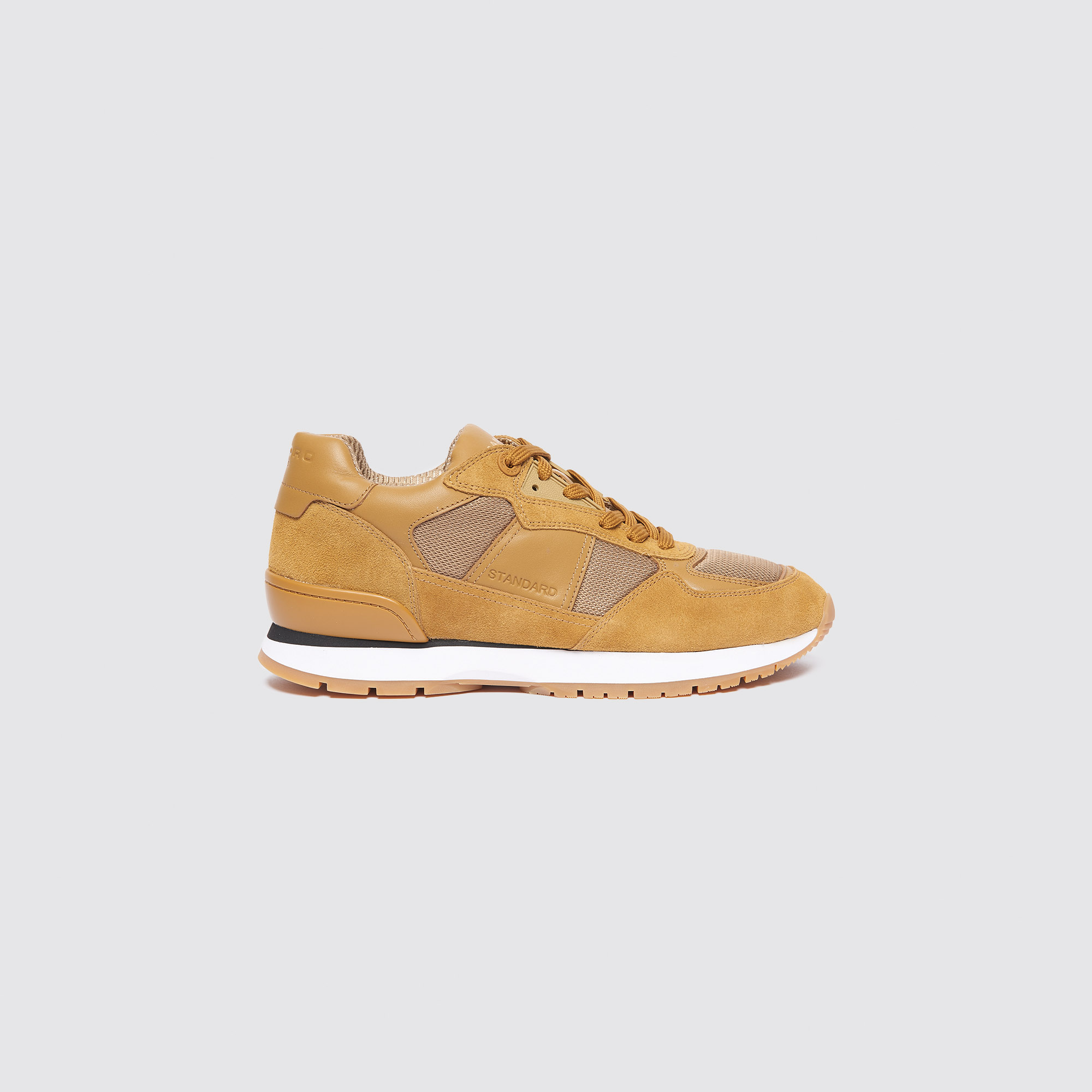 c3345e2b6 Dual Material Running Trainers : Shoes color Camel ...