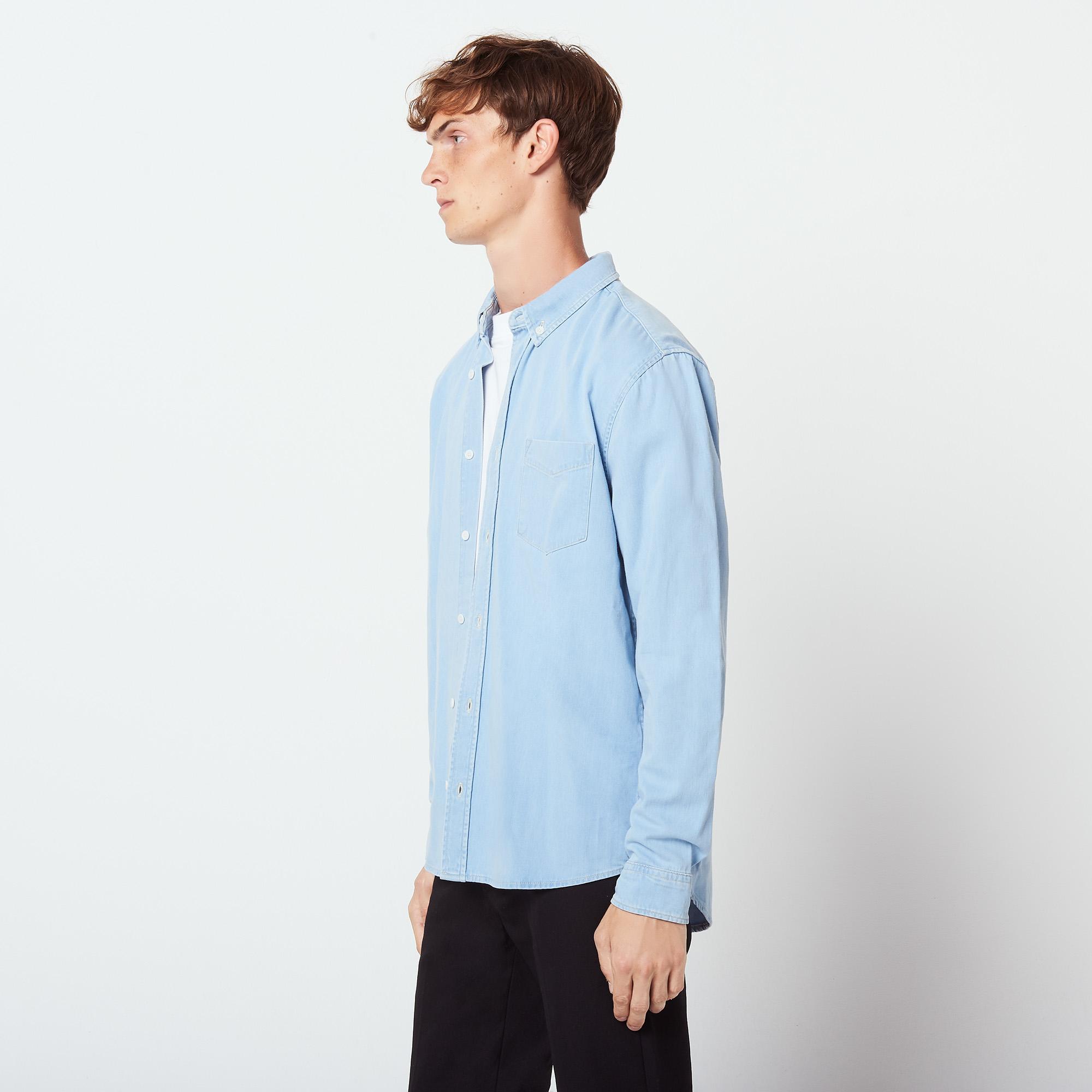 7a43f29ae8 ... Denim shirt   Icons color Sky Blue ...