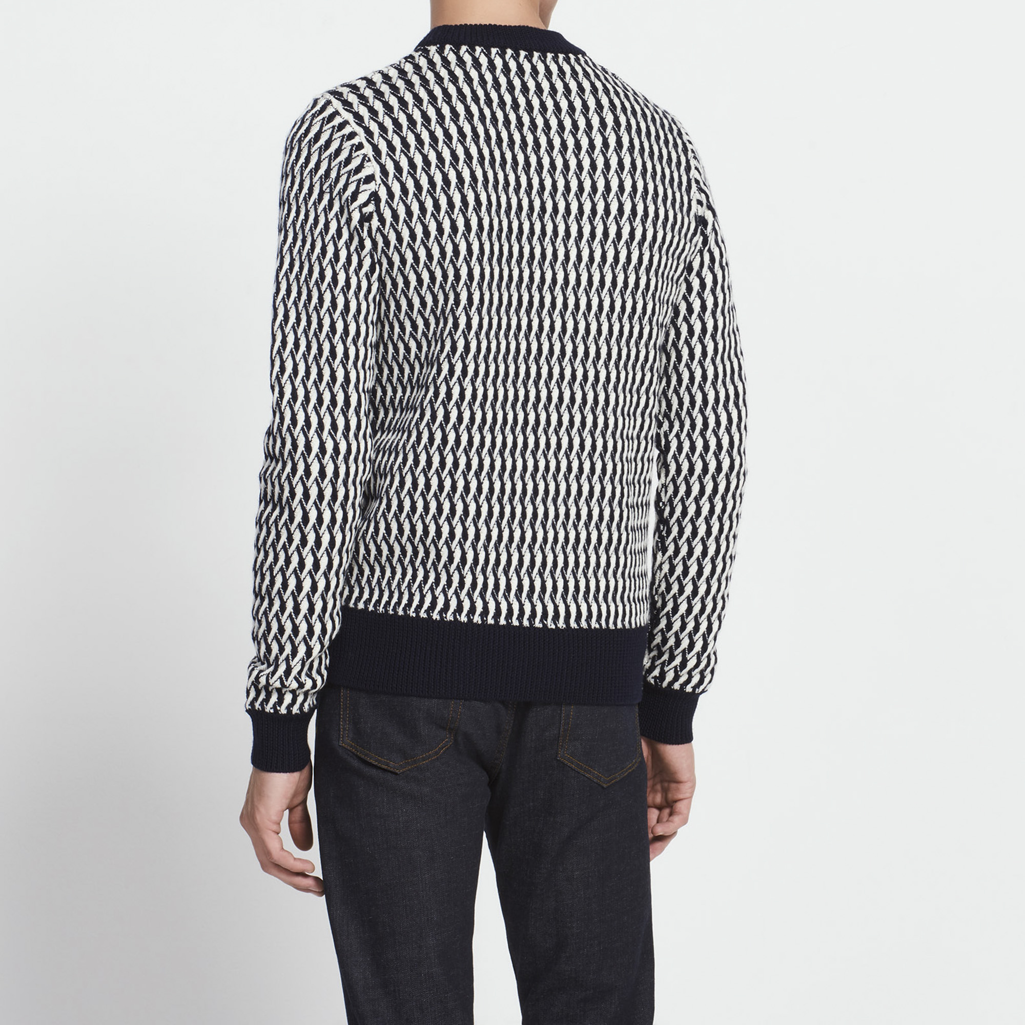 Two-tone cable knit sweater - Sweaters & Cardigans - Sandro-paris.com
