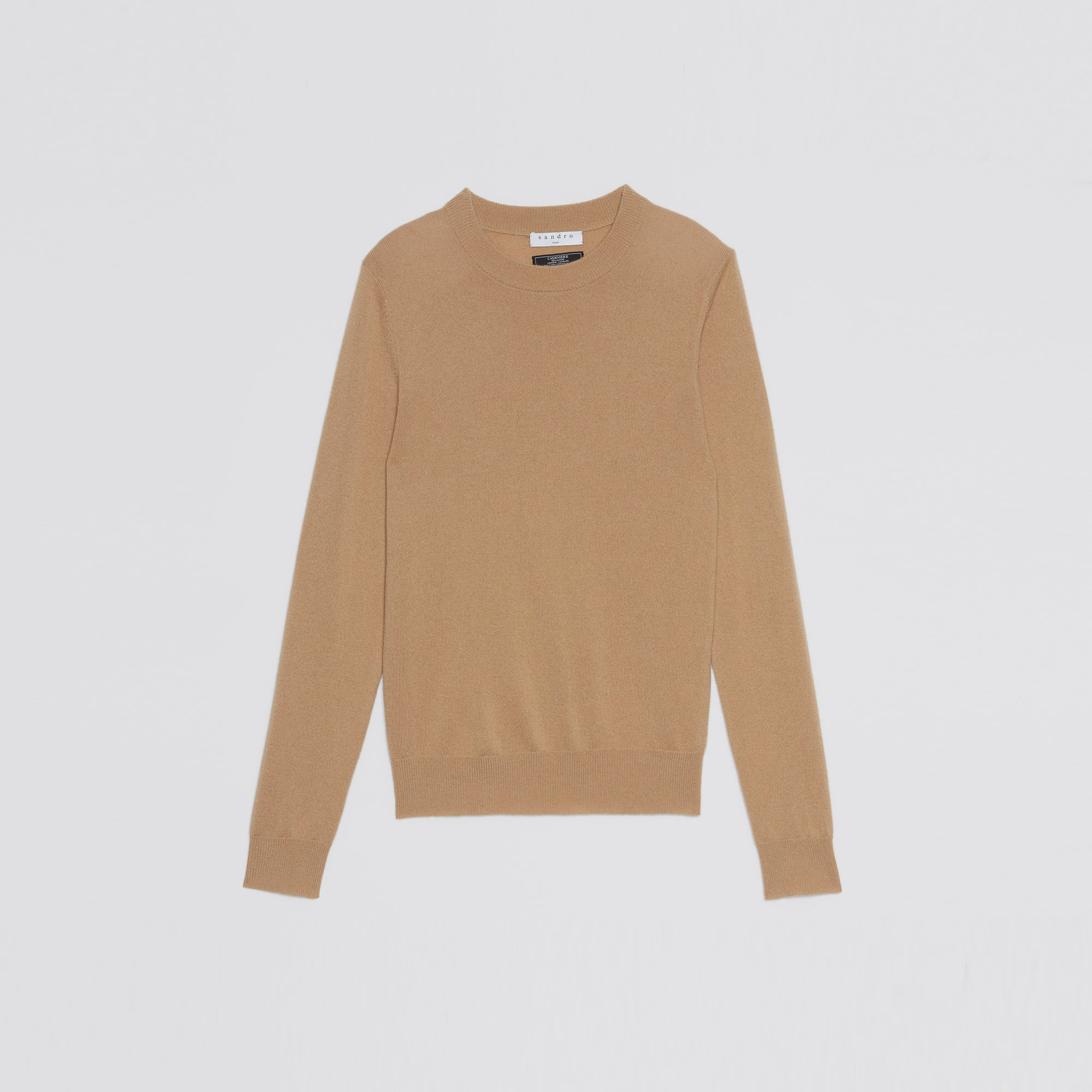 Plain sweater in cashmere - Sweaters & Cardigans - Sandro-paris.com