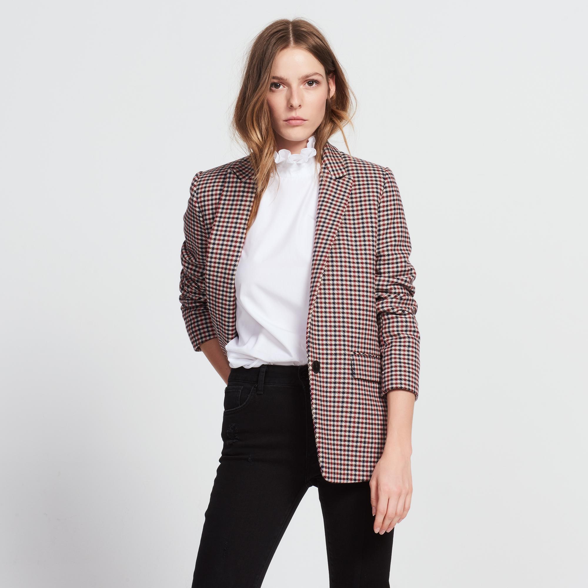 Floral cashmere-print silk dress - Nos produits - Sandro-paris.com
